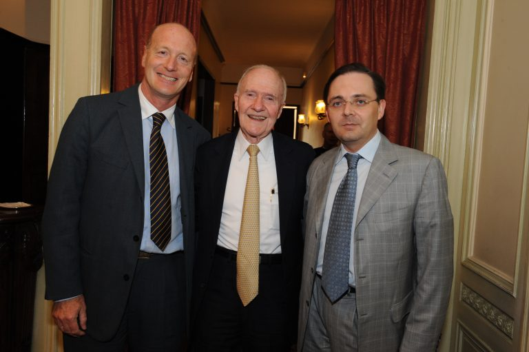 Fabien Baussart with Brent Scowcroft, former U.S National Security Advisor.