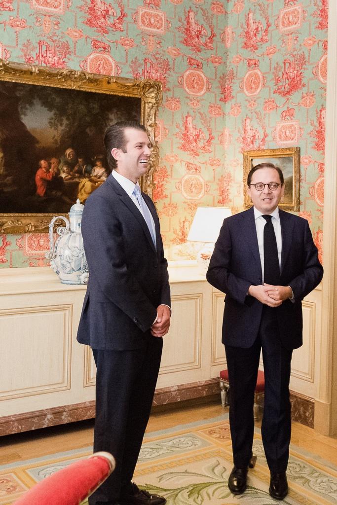 Fabien Baussart with Donald Trump Jr.