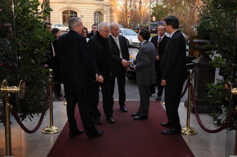 Fabien Baussart with Vaklav Klaus, President of Czech Republic.