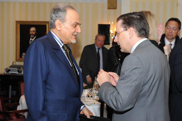 Fabien Baussart with Prince Turki Al Faisal.