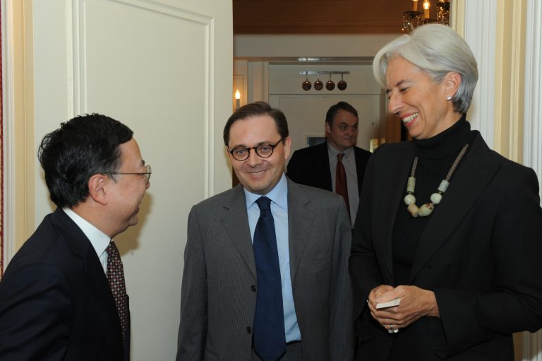 Fabien Baussart with Christine Lagarde, General Director of IMF.