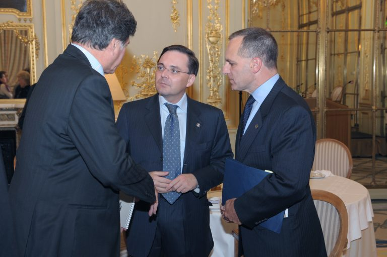 Fabien Baussart with Louis Freeh, former Director of the FBI.