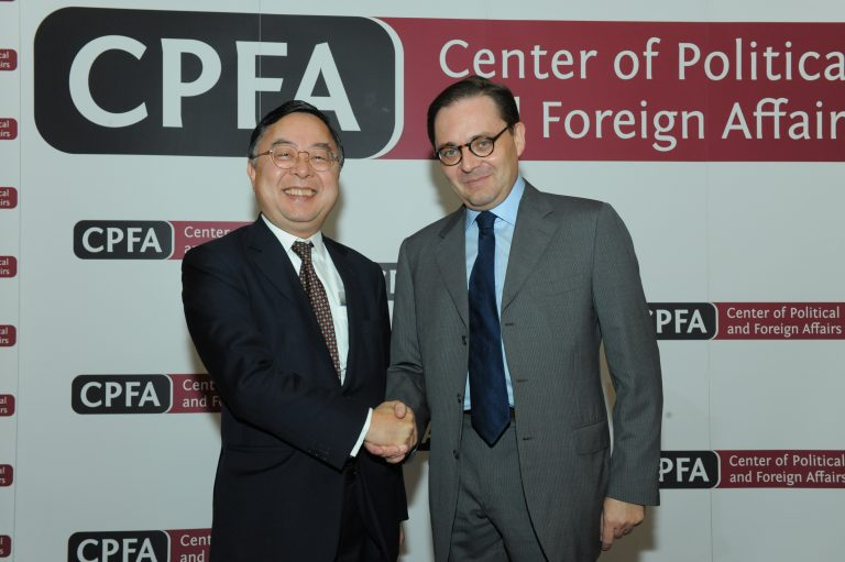 Fabien Baussart with Ronnie C. Chan, former chairman of Hang Lung Group.