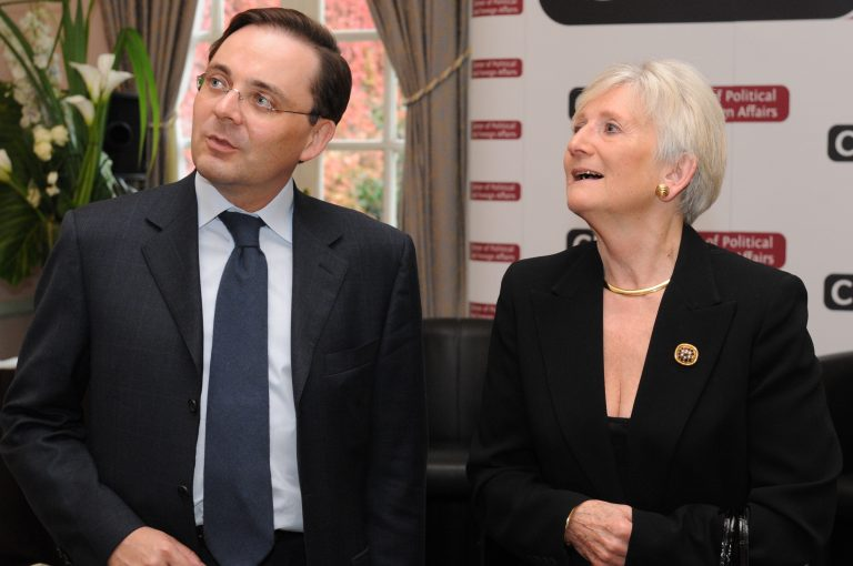 Fabien Baussart with Baroness Neville-Jones, former U.K. Minister of State for Security and Counter Terrorism in the Home Office.