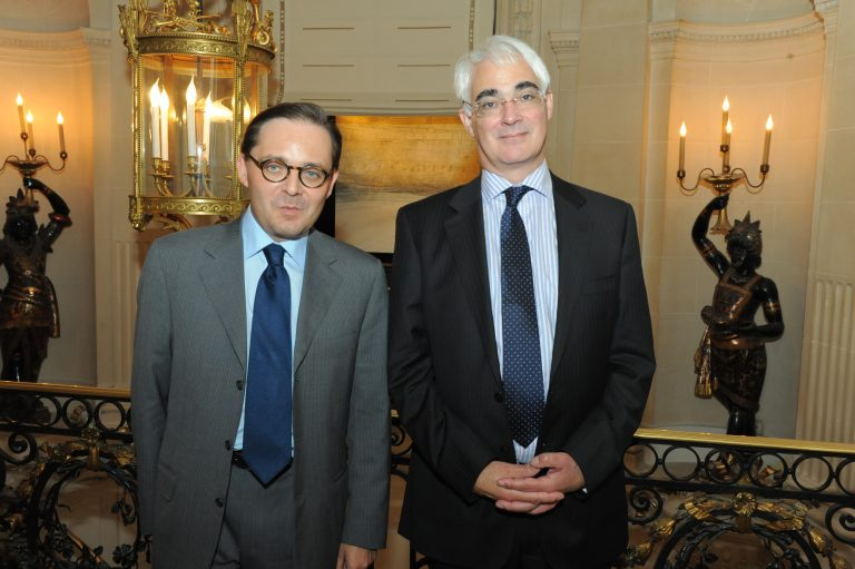Fabien Baussart with Baron Alistair Darling, former U.K Chancellor of Exchequer.