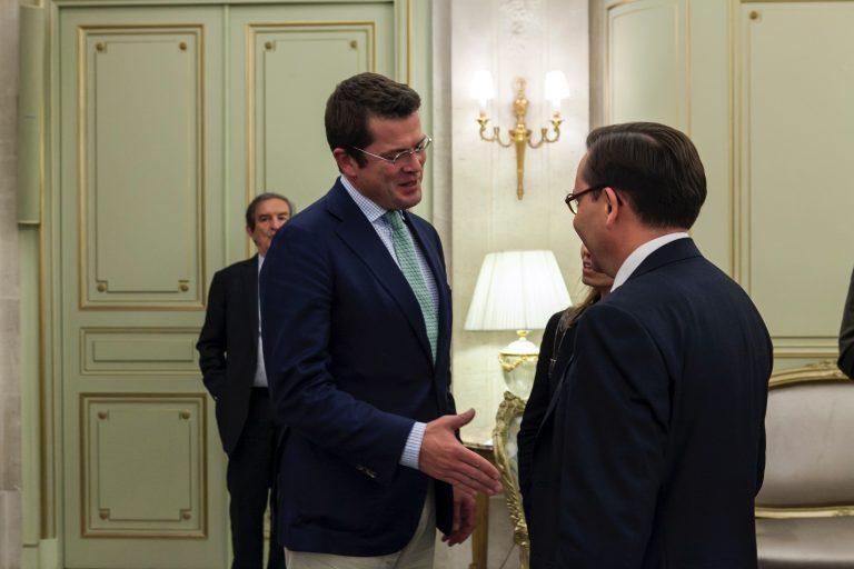 Fabien Baussart with Karl-Theodor Zu Guttenberg, former German Minister of Defense.
