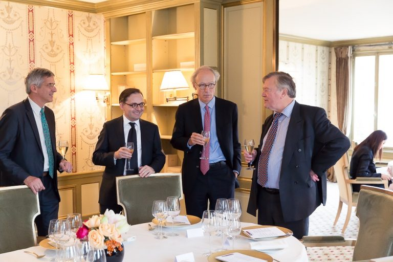 Fabien Baussart with Kenneth Clarcke, former U.K. Chancellor of the Exchequer.