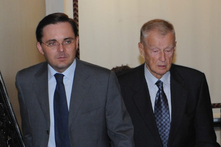 Fabien Baussart with Zbigniew Brzezinski, former U.S National Security Advisor.