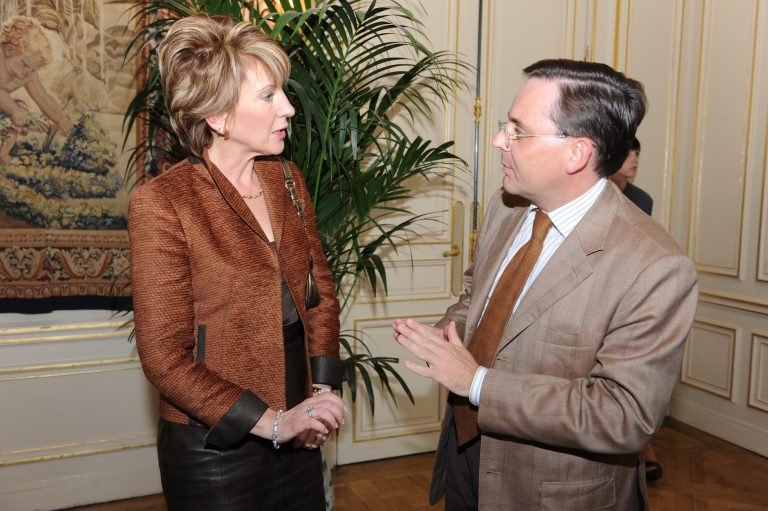 Fabien Baussart with Carly Fiorina, former CEO of Hewlett-Packard.