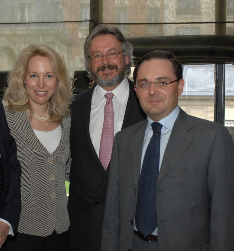 Fabien Baussart with Joseph Wilson, former U.S Ambassador and Valerie Plame, former operations officer at CIA.