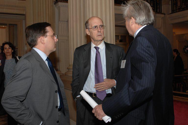Fabien Baussart with Strobe Talbott, former U.S. Deputy Secretary.