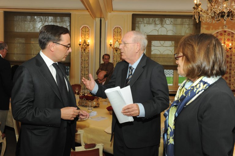 Fabien Baussart with Efraim Halevy, former Director of Mossad.