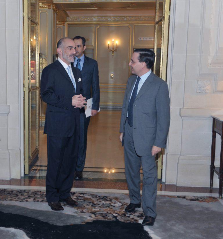 Fabien Baussart with Prince Talal of Jordan.