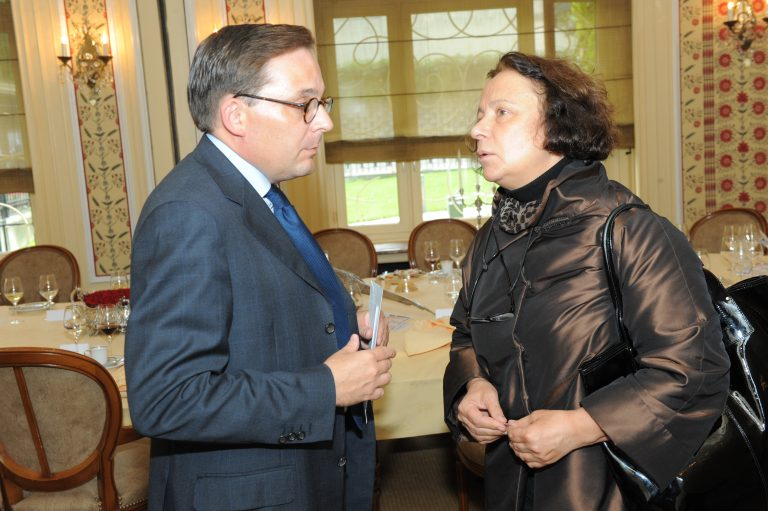 Fabien Baussart with Ana de Palacio, former FM of Spain.
