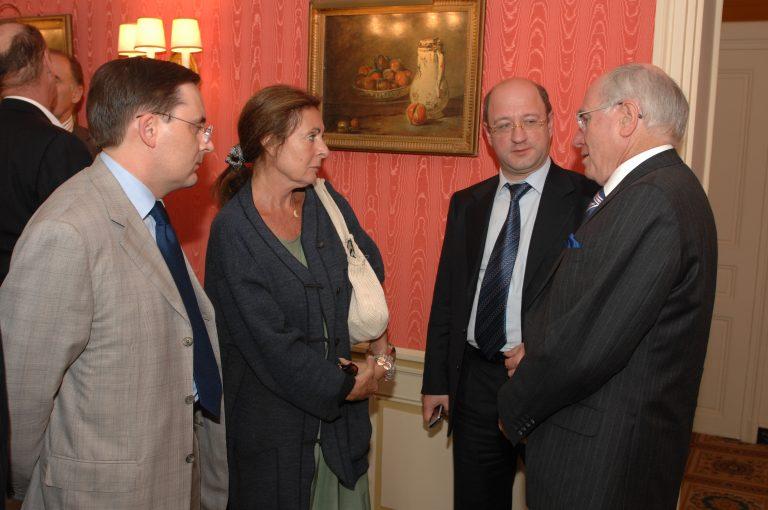 Fabien Baussart with John Howard, former PM of Australia.