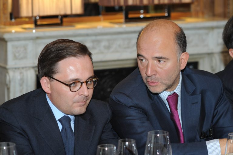 Fabien Baussart with Pierre Moscovici, French Minister of Finance.