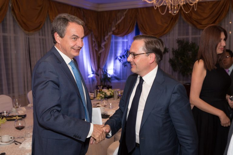 Fabien Baussart with José Luis Zapatero, former PM of Spain.