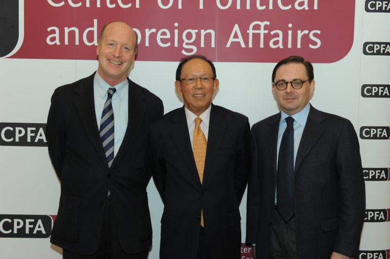 Fabien Baussart with Tun Musa Hitam, former Malaysian Deputy PM.