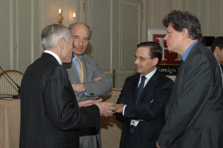 Fabien Baussart with U.S. General Wesley Clark.