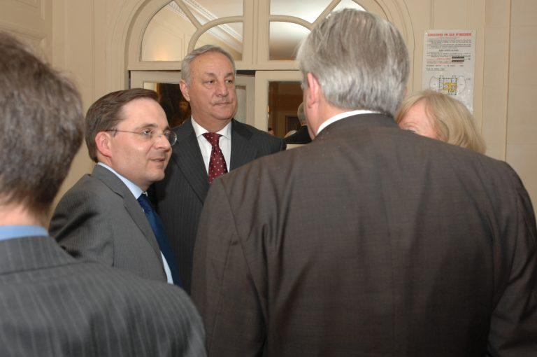 Fabien Baussart with Sergei Bagapch, 2nd President of Abkhazia.
