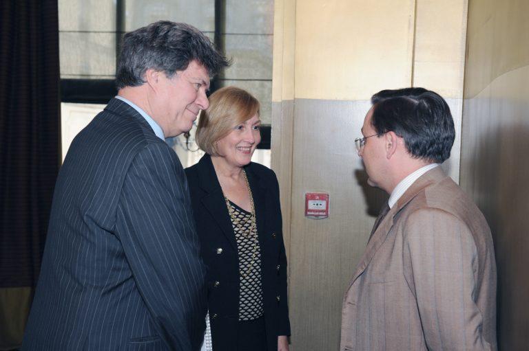 Fabien Baussart with Jamie Gorelick, 28th U.S. Deputy Attorney General.