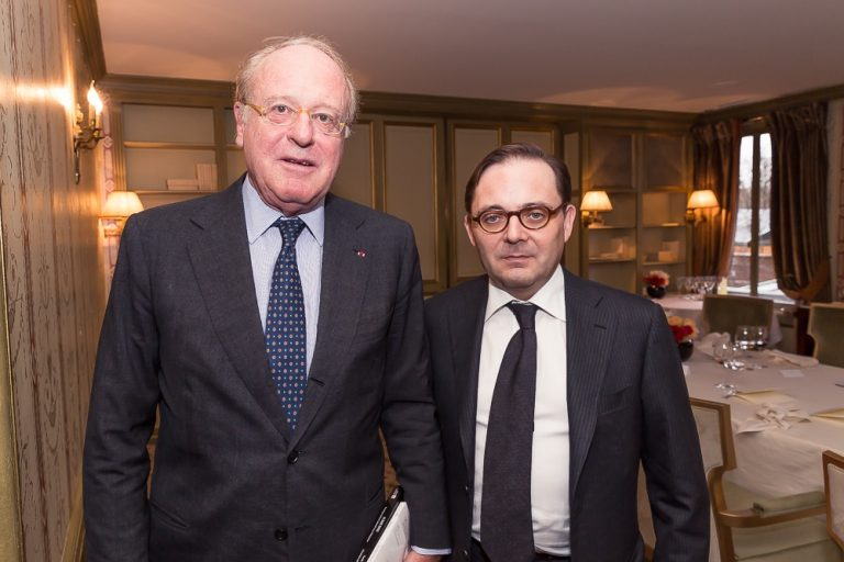 Fabien Baussart with Paolo Scaroni, CEO of Italian energy company Eni.