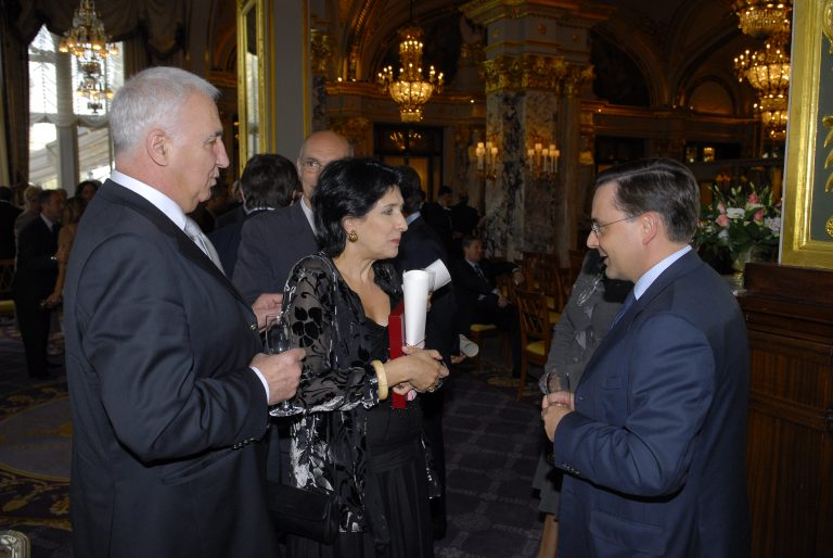 Fabien Baussart with Salome Zourabichvili, President of Georgia.