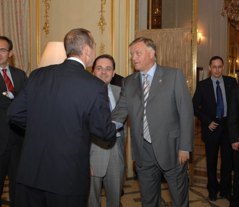 Fabien Baussart with Vladimir Yakunin, President of Russian Railways.