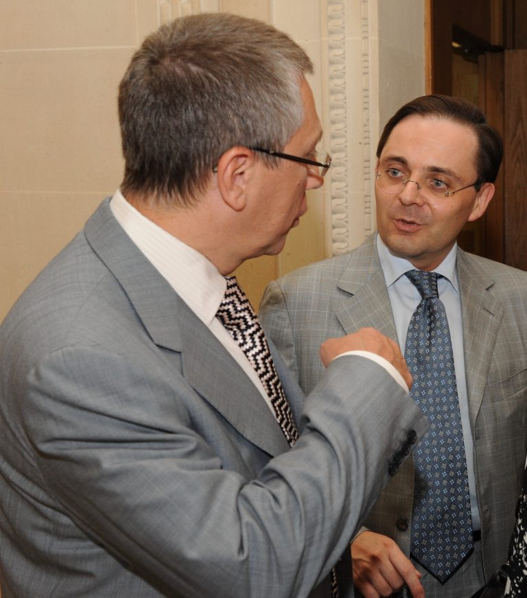 Fabien Baussart with Andrei Vavilov, former First Deputy Finance Minister of Russia.