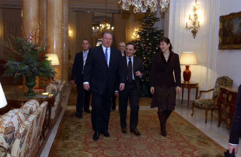 Fabien Baussart with Al Gore, former U.S Vice President.