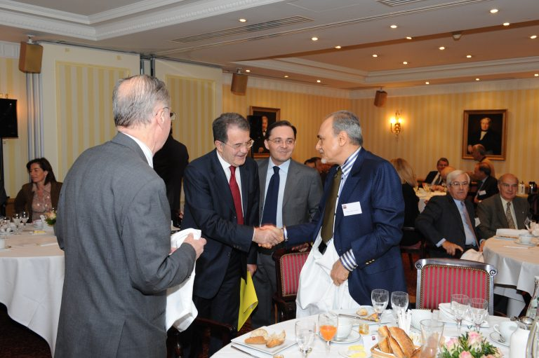 Fabien Baussart with Romano Prodi, former President of the European Commission.