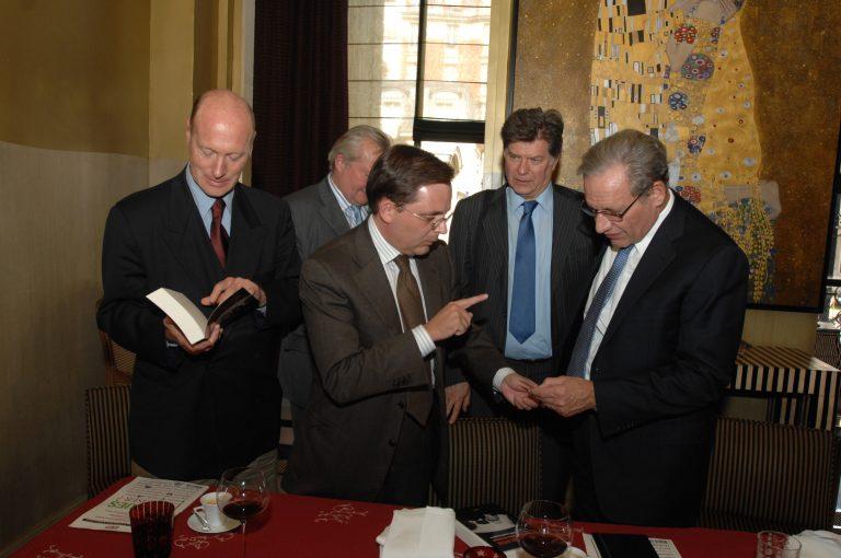 Fabien Baussart with Bob Woodward, American investigative journalist.