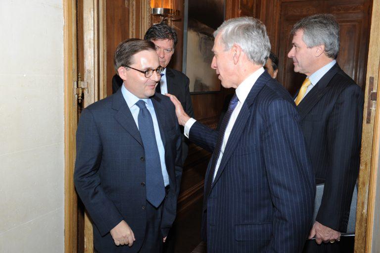 Fabien Baussart with Jack Straw, former U.K FM.