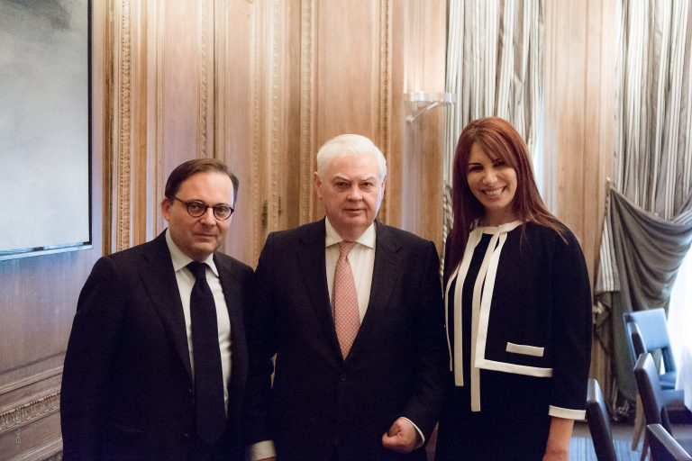 Fabien Baussart with Lord Norman Lamont, former U.K Chancellor of the Exchequer.