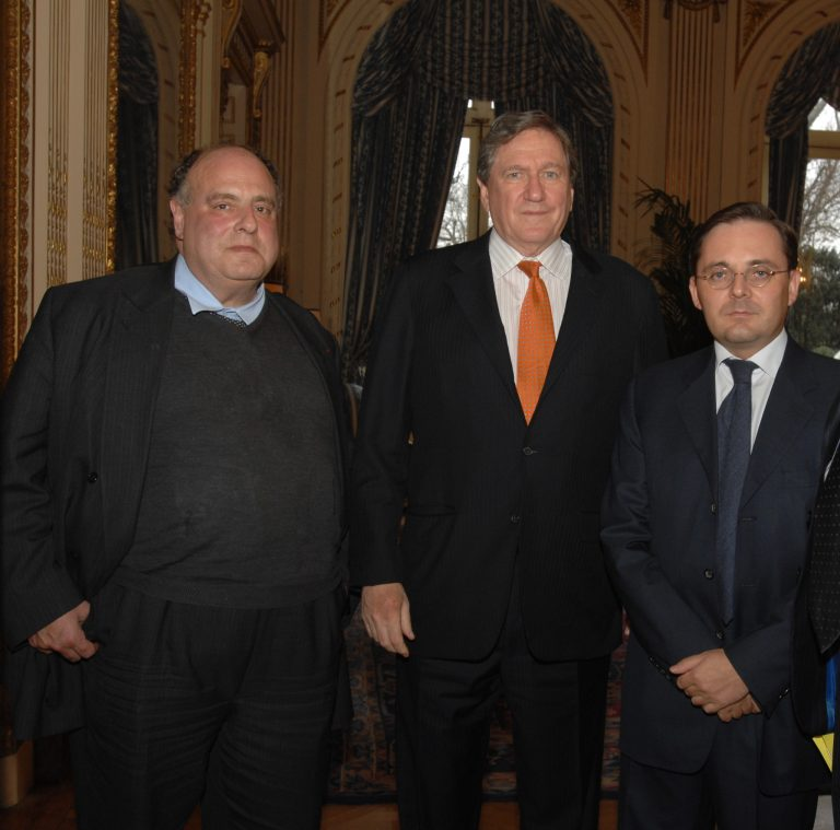 Fabien Baussart with Richard Holbrooke, former U.S. Assistant Secretary.
