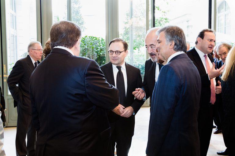Fabien Baussart with former Turkish President, Abdullah Gül.