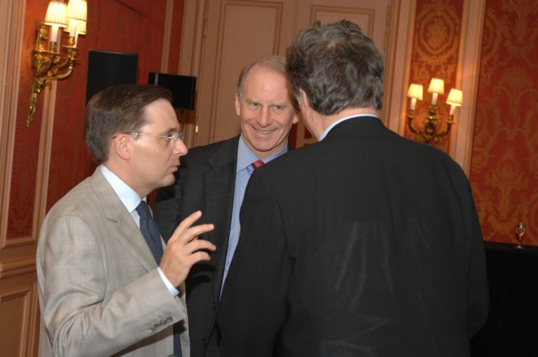 Fabien Baussart with Richard Haass, President of the Council on Foreign Relations in U.S.