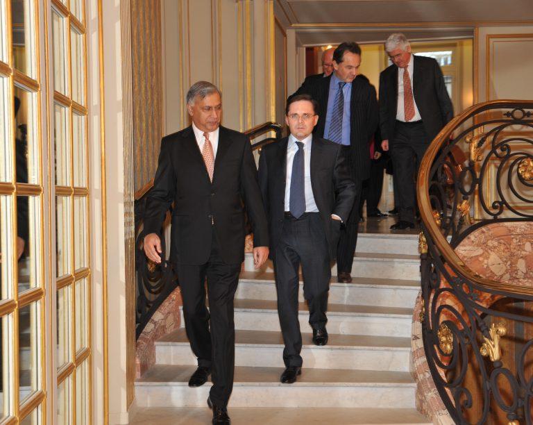 Fabien Baussart with Shaukat Aziz, former Pakistani PM.