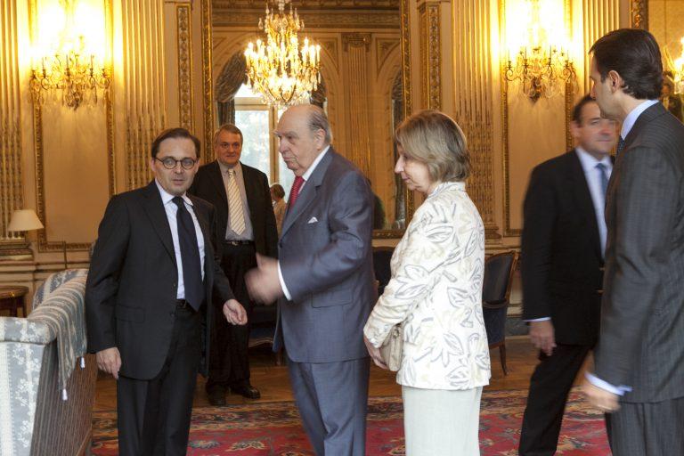 Fabien Baussart with Julio María Sanguinetti, former President of Uruguay.