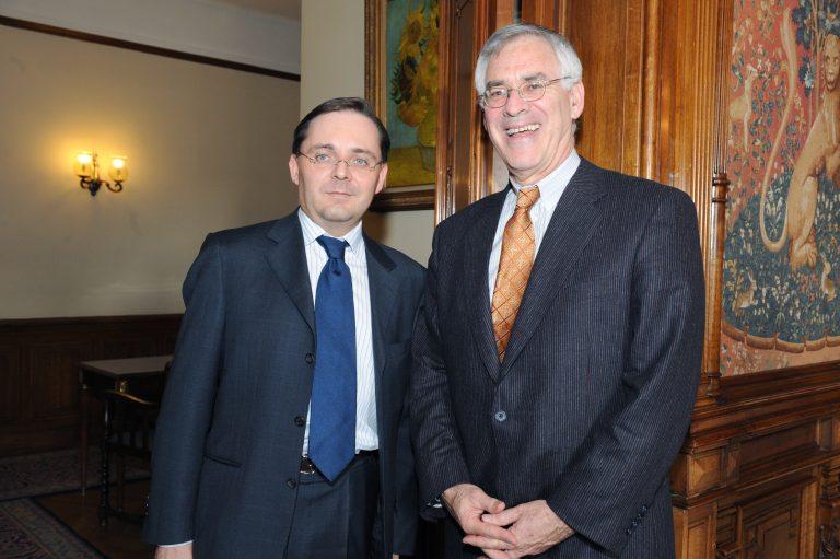 Fabien Baussart with Richard Danzig, former U.S. Secretary of Navy.