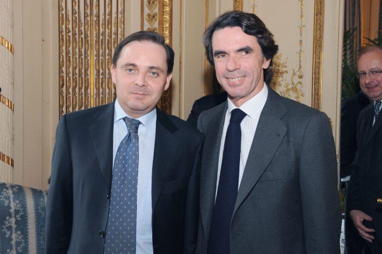 Fabien Baussart with José Maria Aznar, former PM of Spain.