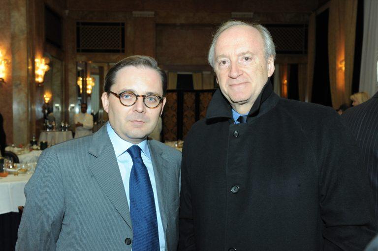 Fabien Baussart with Hubert Védrine, former French FM.