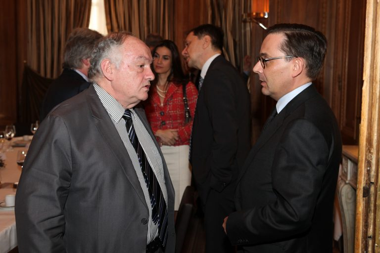 Fabien Baussart with Jean-Claude Cousseran, former French General Director at the DGSE.