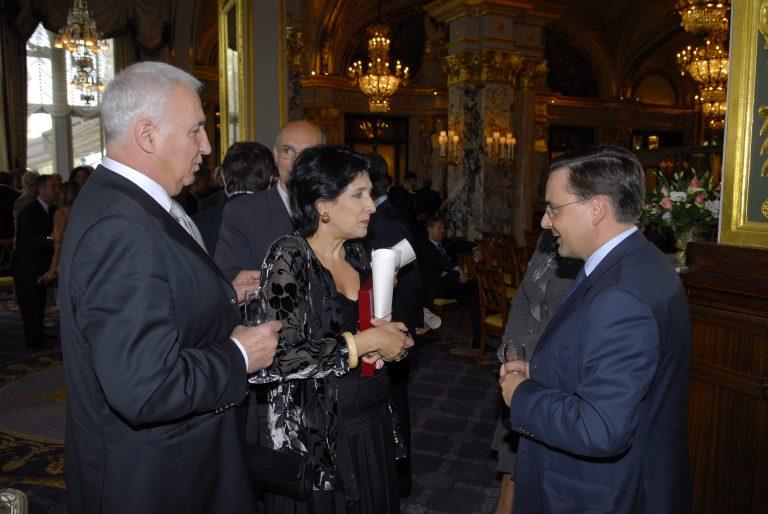 Fabien Baussart with Salome Zourabichvili, President of Georgia.