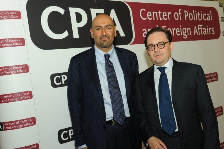Fabien Baussart with Nabil Alyousuf, former Director General of HE Mohammed Al Maktoum.