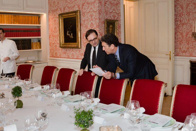 Fabien Baussart with James Rubin.