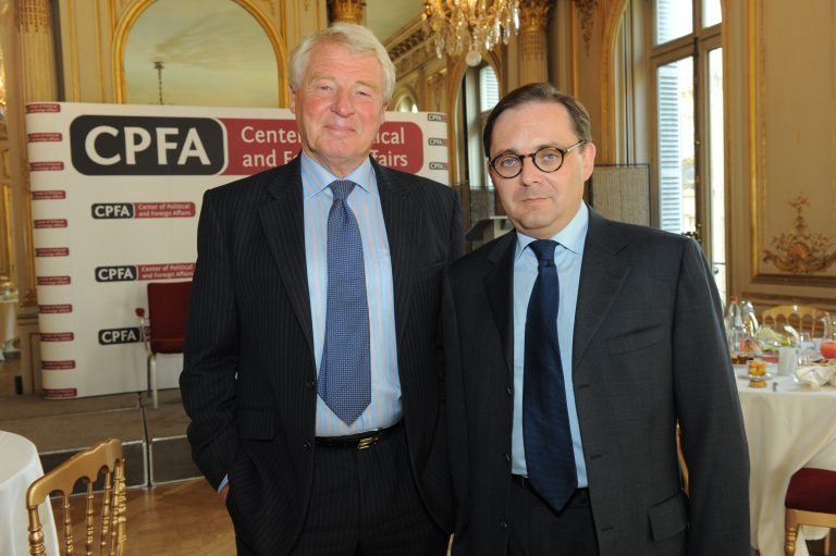 Fabien Baussart with Lord Paddy Ashdown.