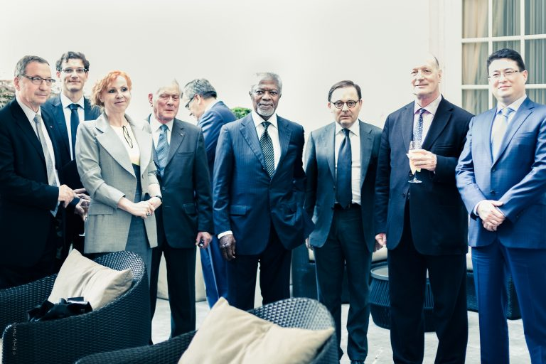 Fabien Baussart with Kofi Annan, former U.N Security General.